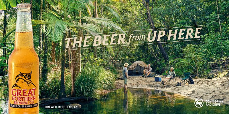 Camping, beer, rainforest, river, lifestyle
